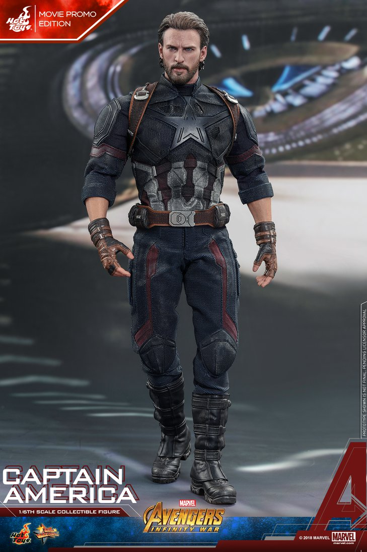 Hot Toys Marvel Avengers Infinity War Captain America Figure