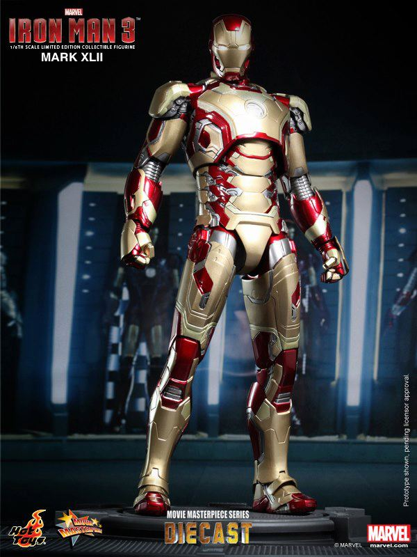 Hot Toys Marvel Iron Man Mark XLII Diecast Figure
