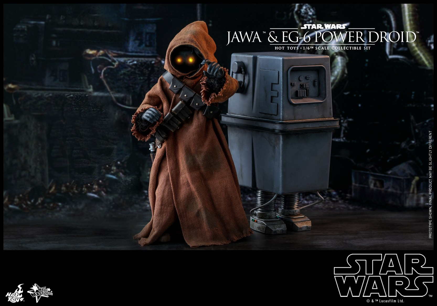 Pre-Order Hot Toys Star Wars Jawa & EG-6 Power Droid Figure Set