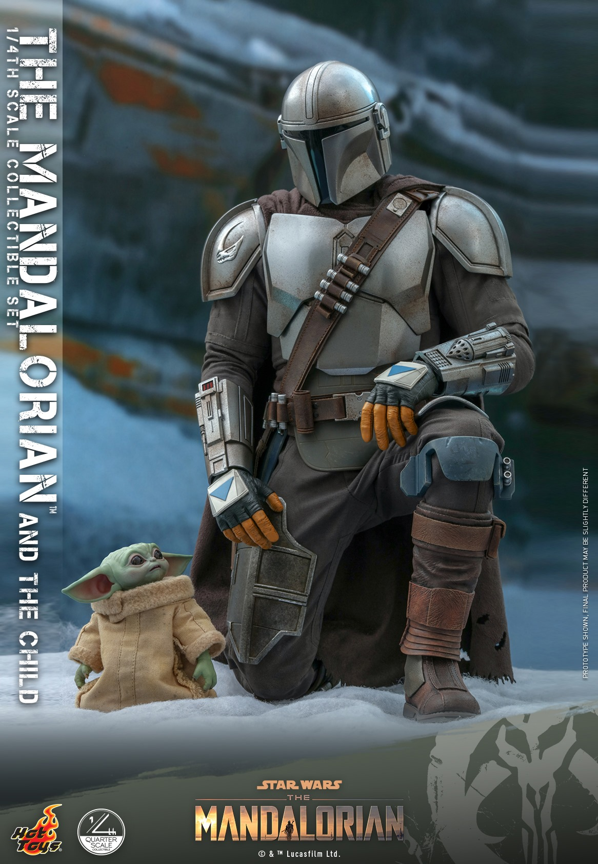 Pre-Order Hot Toys Star Wars The Mandalorian & Child 1/4 Set