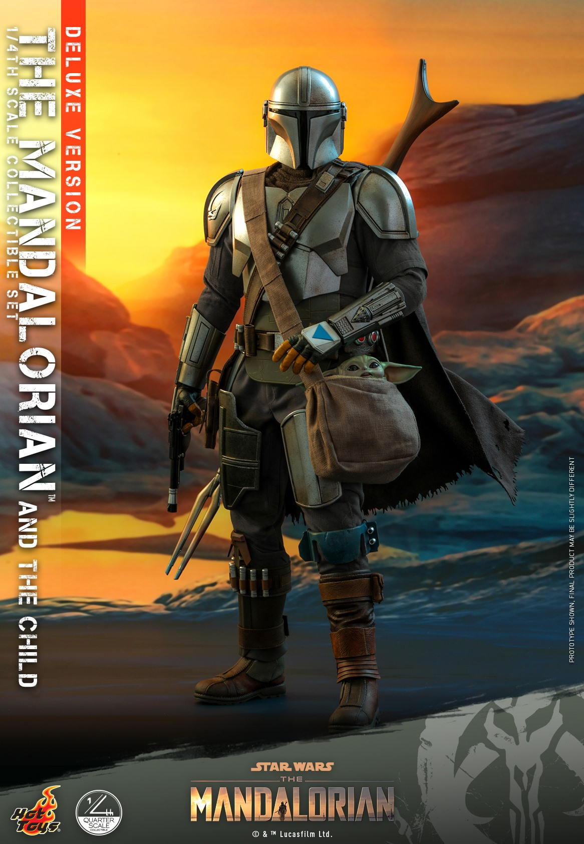 Pre-Order Hot Toys Star Wars The Mandalorian & Child 1/4 DLX Set