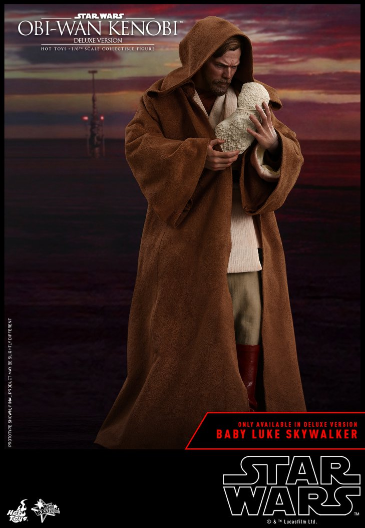 Hot Toys Star Wars Obi-Wan Kenobi Ep3 Deluxe 1:6th Figure