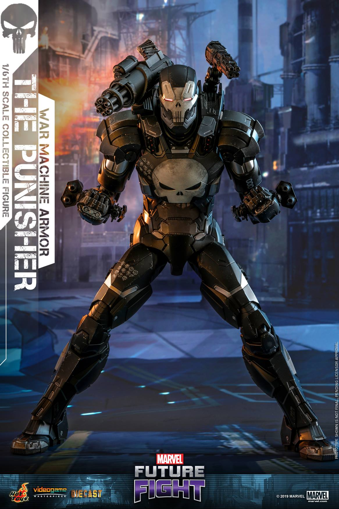 Pre-Order Hot Toys Marvel Punisher War Machine Armor Diecast