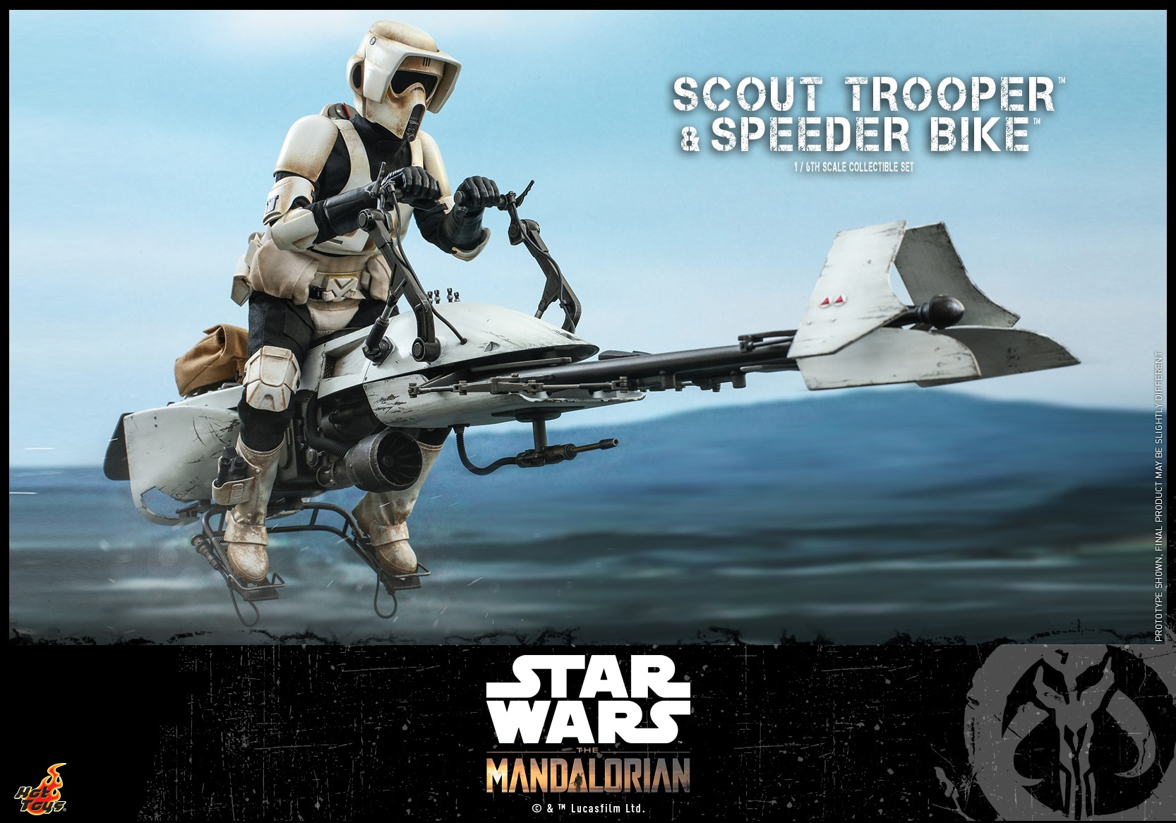 Pre-Order Hot Toys Star Wars Scout Trooper w/Speeder Bike Set