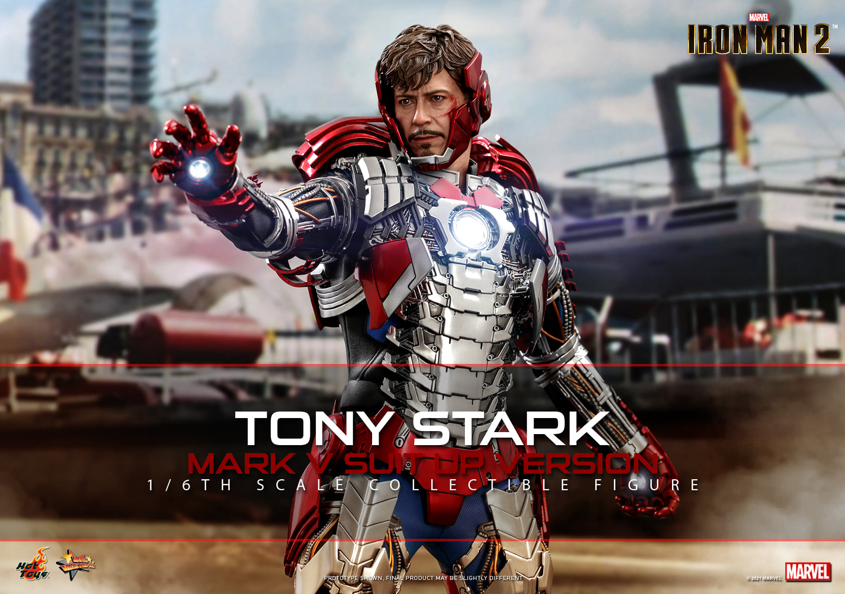Pre-Order Hot Toys Marvel Iron Man 2 Tony Stark  MK V Figure