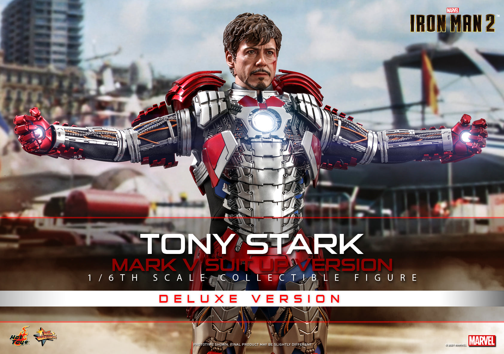 Pre-Order Hot Toys Marvel Iron Man 2 Tony Stark  MK V DLX Figure