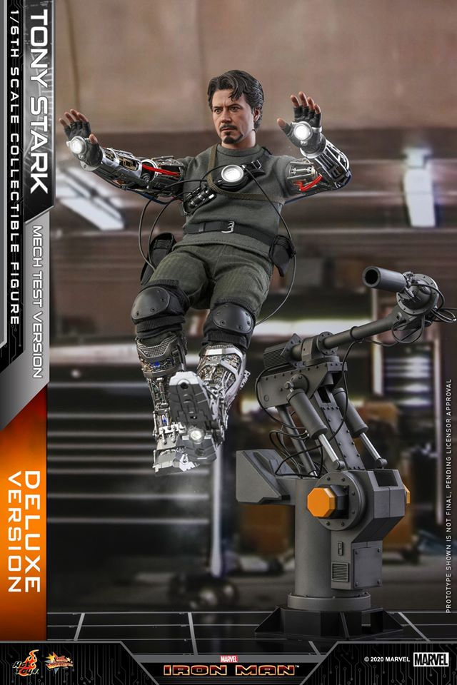 Pre-Order Hot Toys Marvel Tony Stark Mech Suit Test DLX Figure