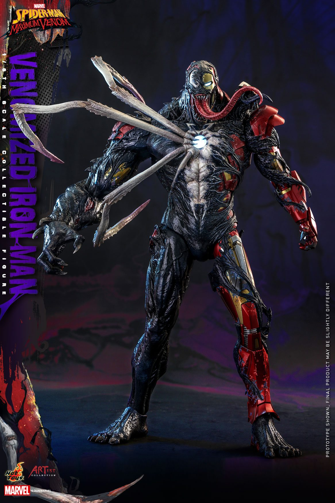 Pre-Order Hot Toys Marvel Venomized Iron Man Sixth Scale Figure