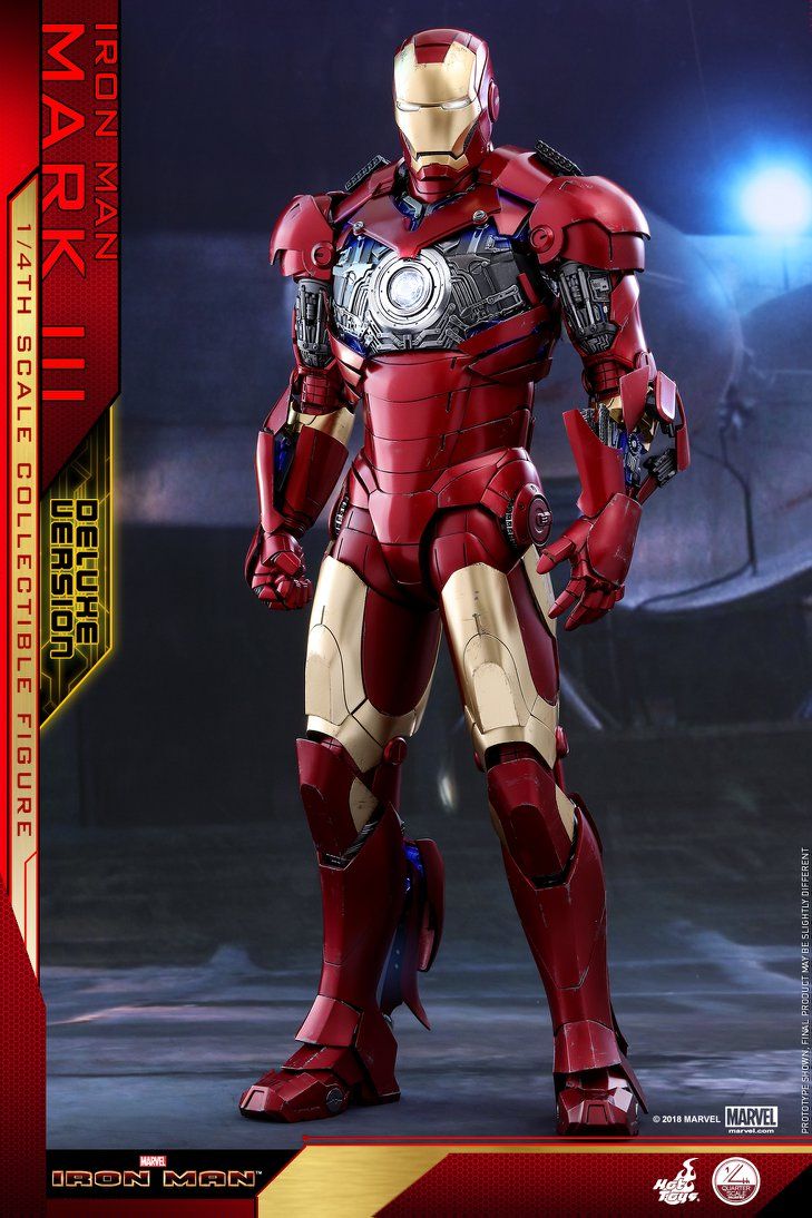 Pre-Order Hot Toys Marvel Iron Man Mark III 1/4 Scale Figure
