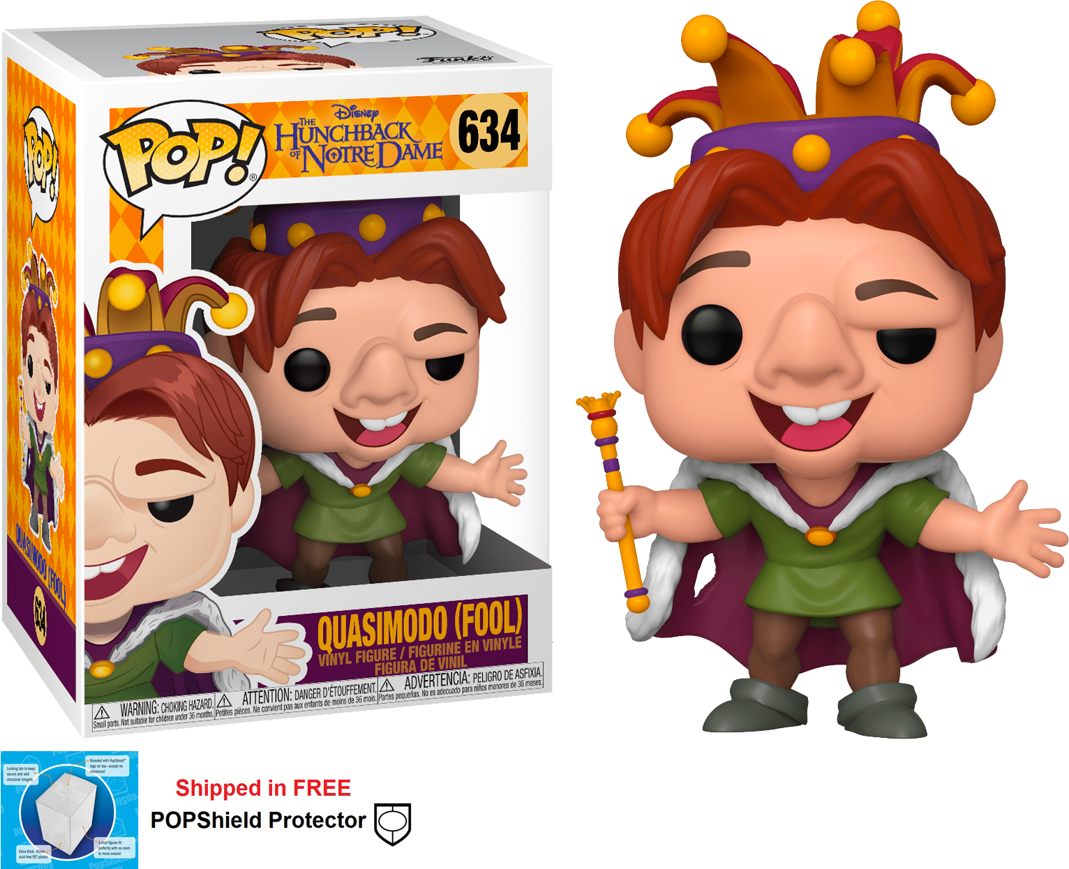 Funko POP Disney Hunchback of Notre Dame Quasimodo Fool #634