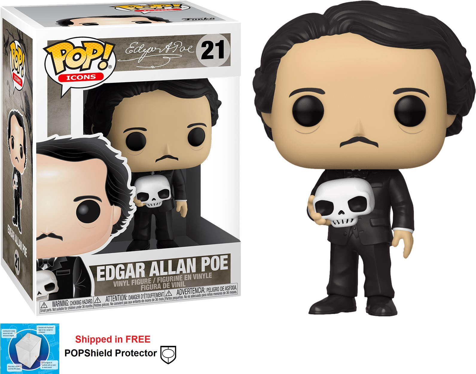 Funko POP Icons Edgar Allen Poe Figure - #21