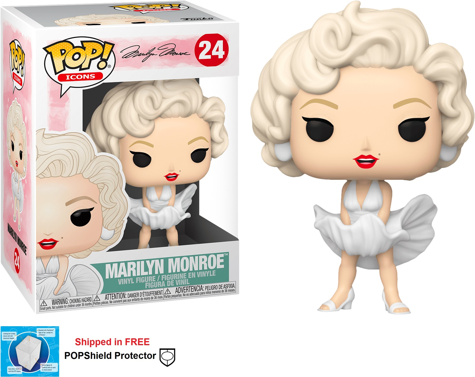 Funko POP Icons Marilyn Monroe Figure - #24
