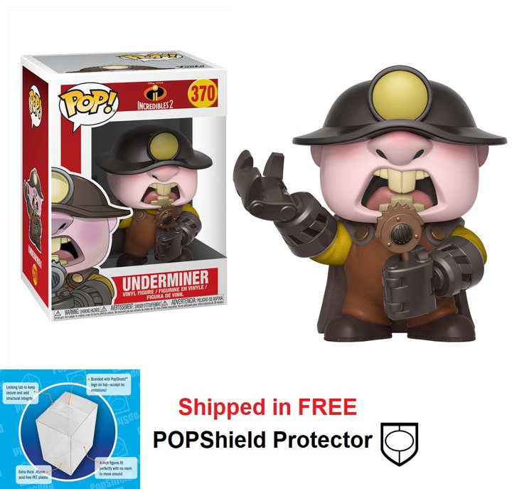 Funko POP Disney Incredibles 2 Underminer Figure - #370