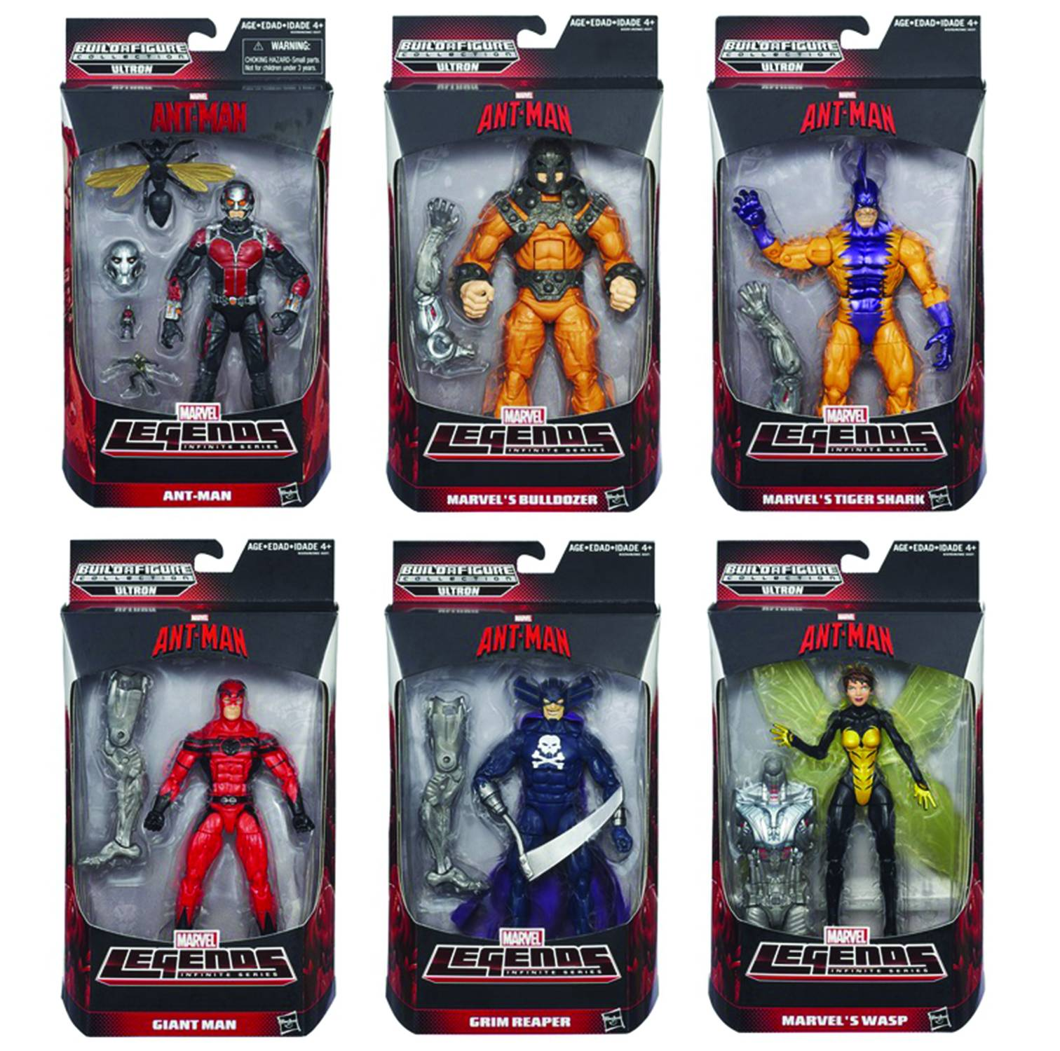 Hasbro Ant-Man Legends Ultron Prime Series - Set of 6 Figures