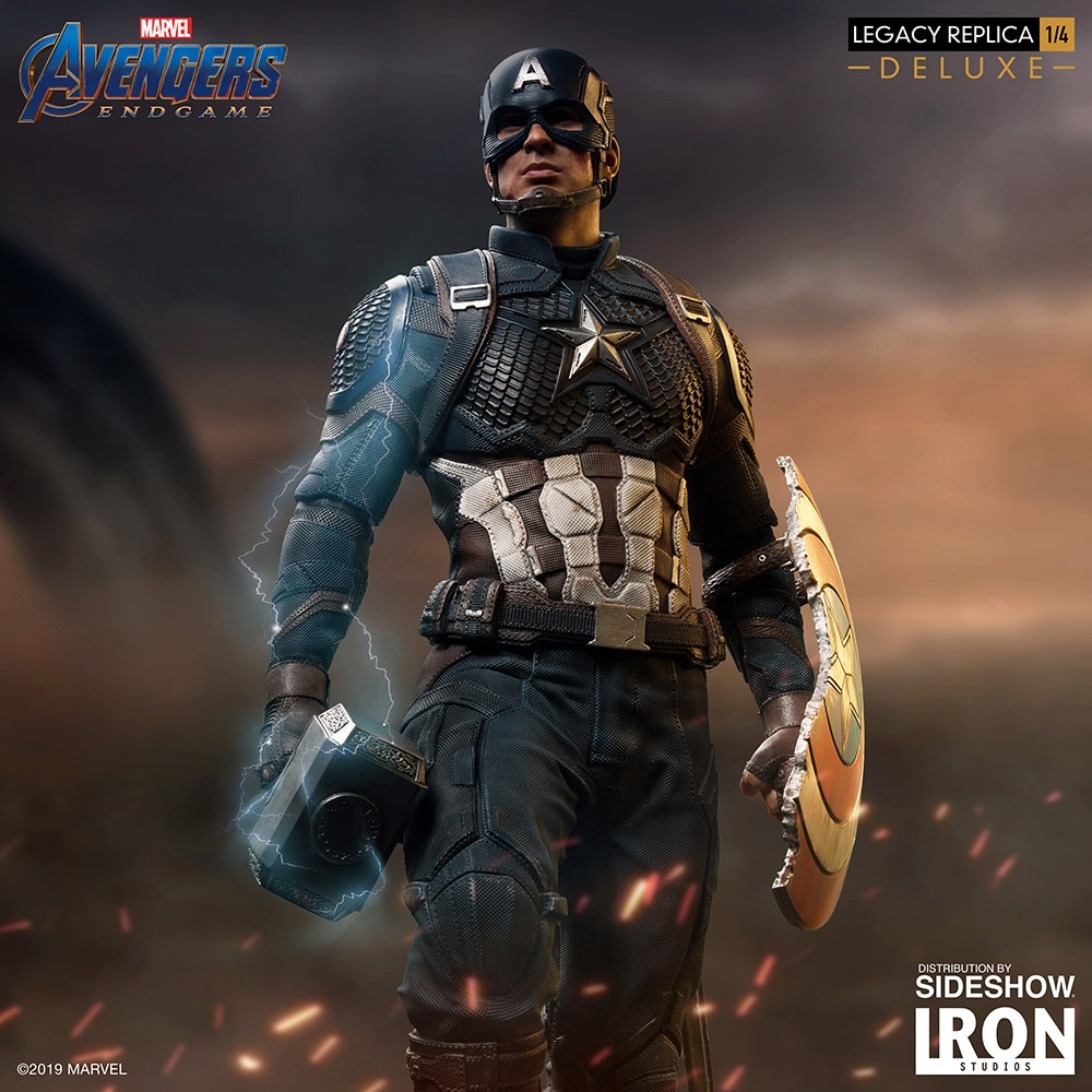 Iron Studios Marvel End Game Captain America DLX Legacy Statue