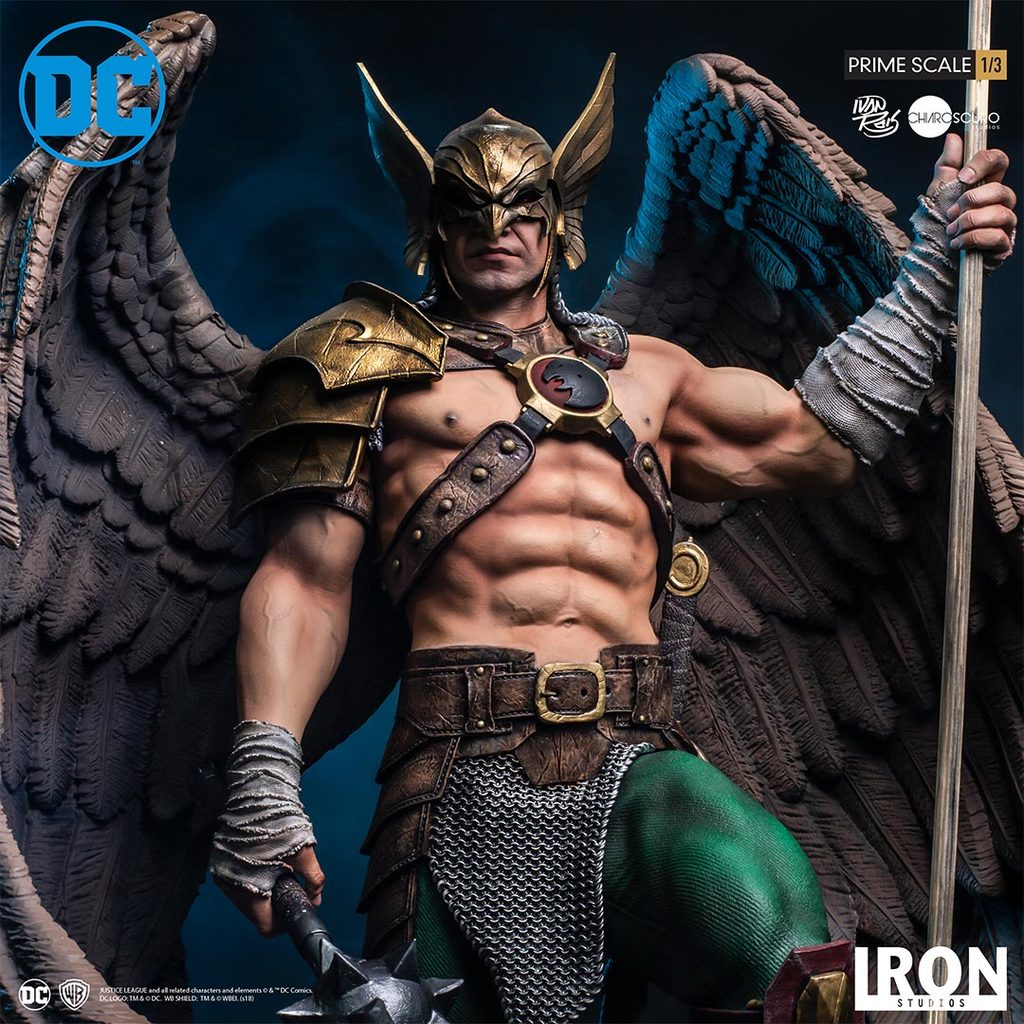 Pre-Order Iron Studios DC Comics Hawkman Closed Wing Prime Scale