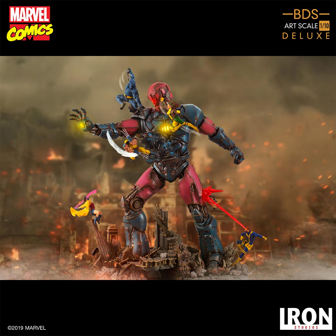 Pre-Order Iron Studios X-Men Vs. Sentinel #1 Battle Diorama