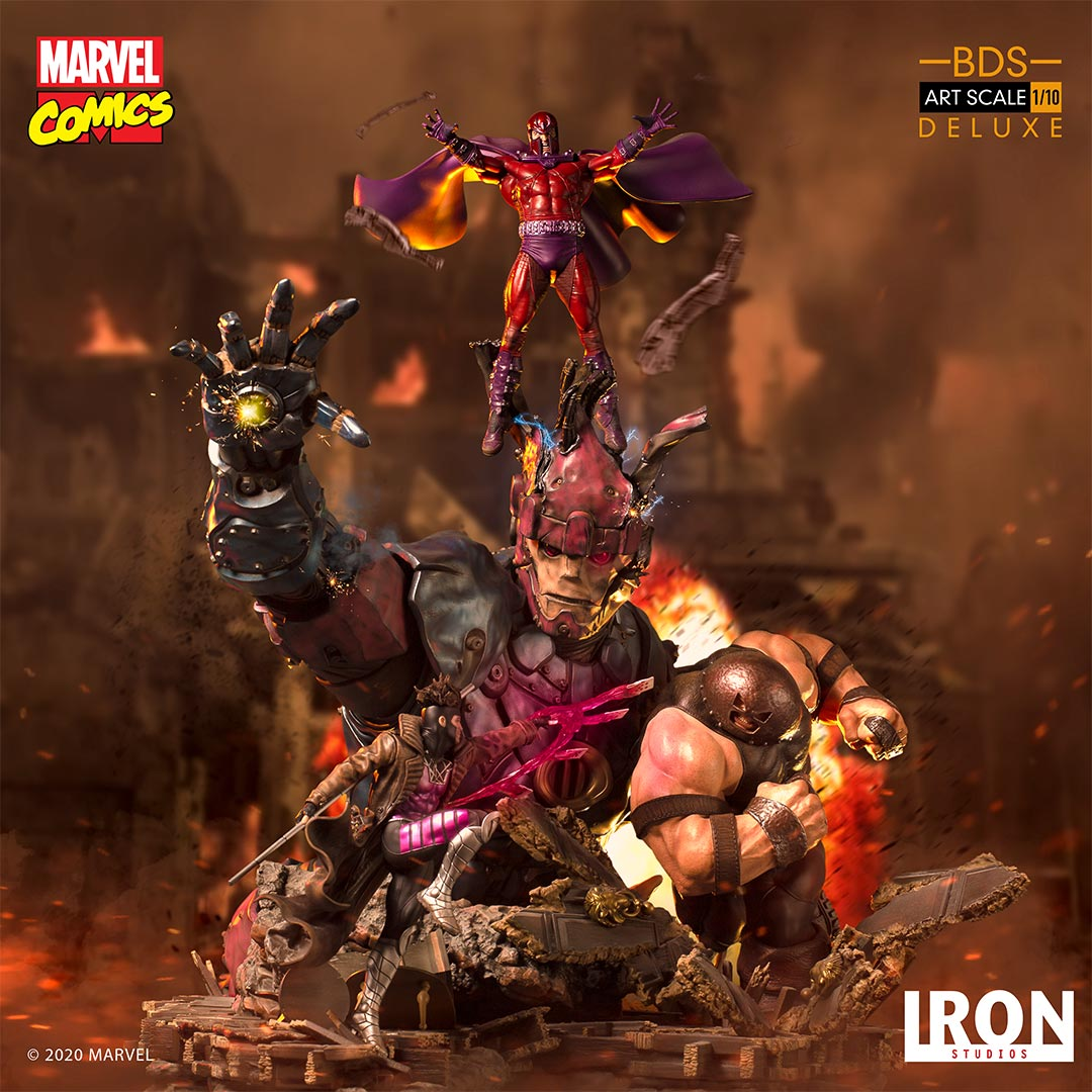 Pre-Order Iron Studios X-Men Vs. Sentinel #2 DLX Battle Diorama