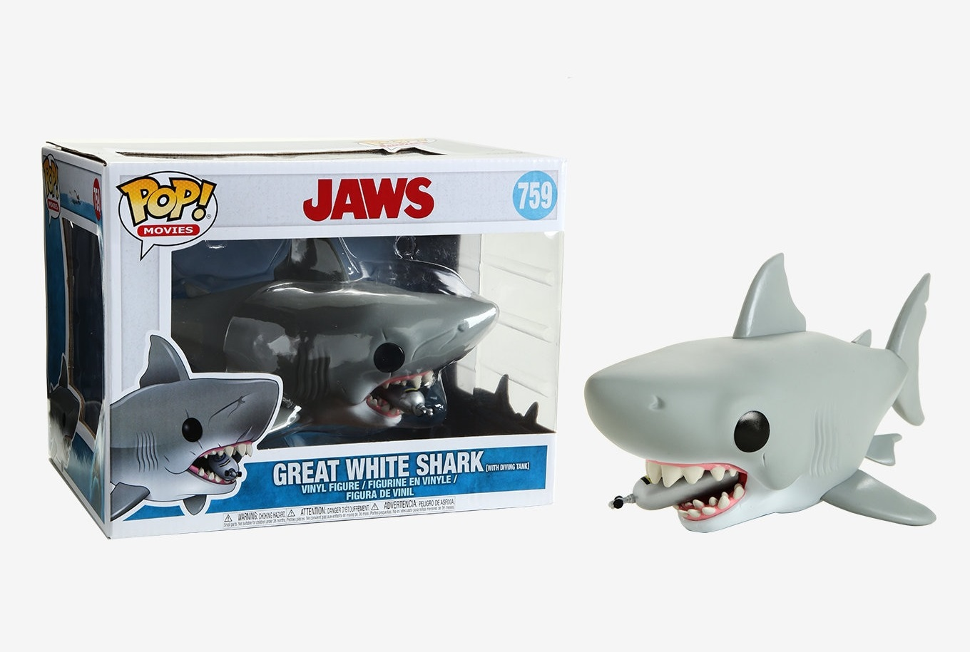Funko POP Movies Jaws Great White Shark with tank - #759