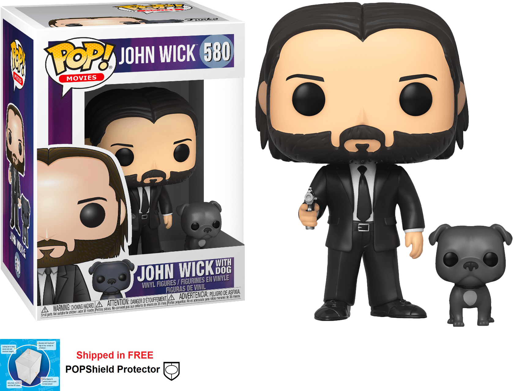 Funko POP Movies John Wick with Dog Figure - #580