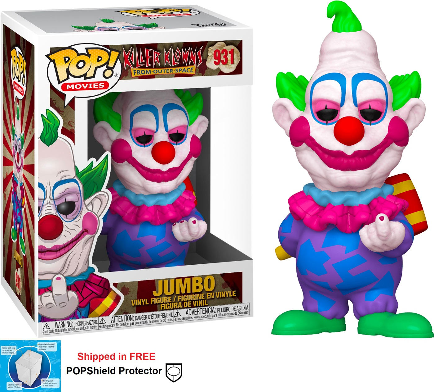Funko POP Movies Killer Klowns From Outer Space Jumbo - #931