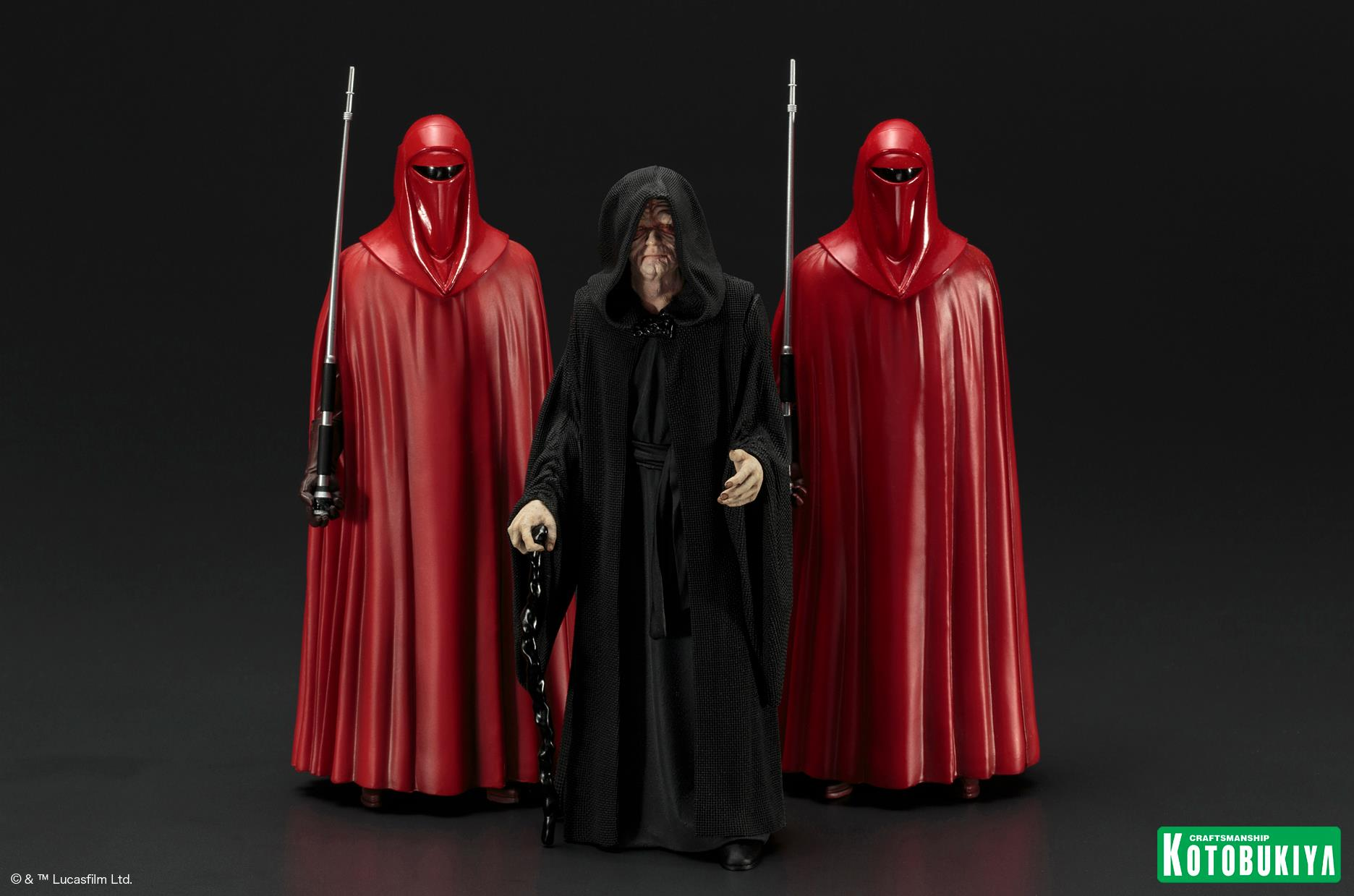 Kotobukiya Star Wars Emperor Palpatine & Royal Guards Statues