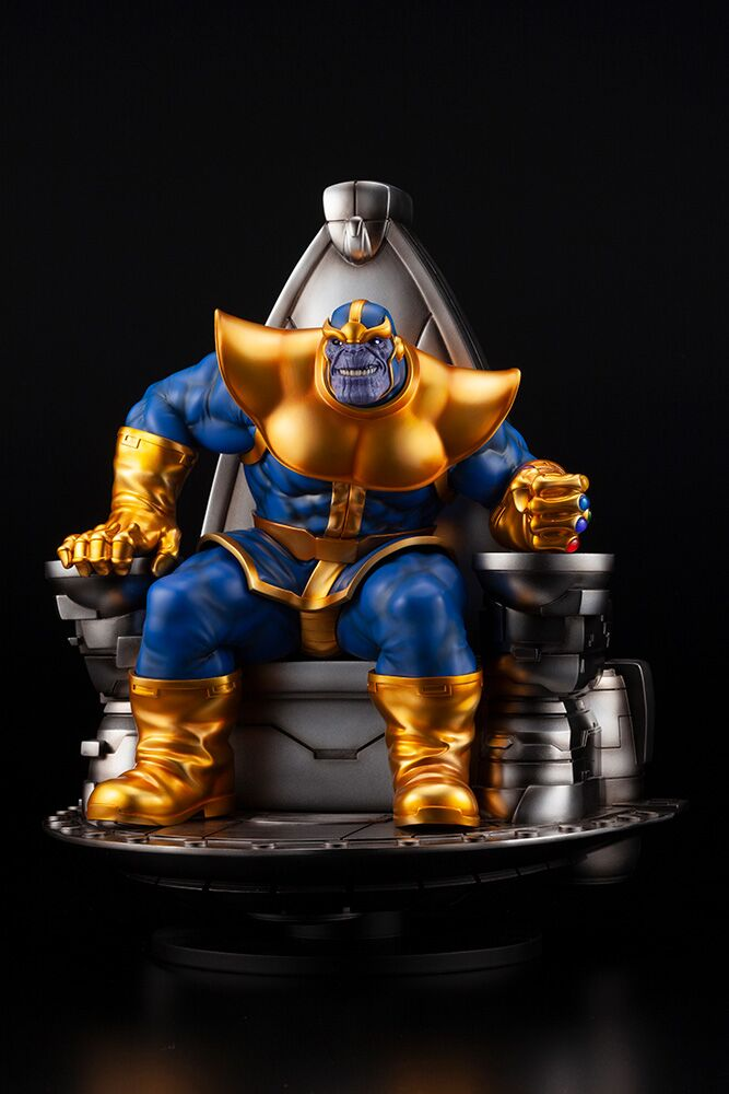 Pre-Order Kotobukiya Marvel Thanos on Throne Fine Art Statue