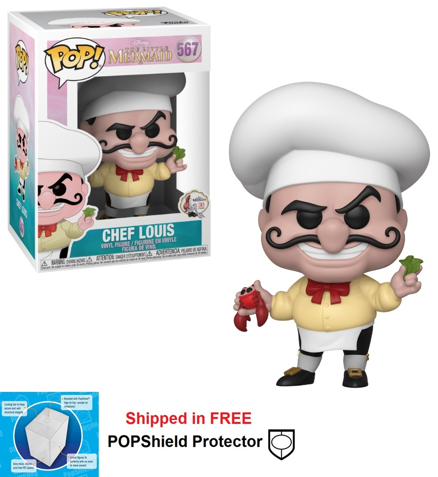 Funko POP Disney Little Mermaid Chef Louis Figure - #567