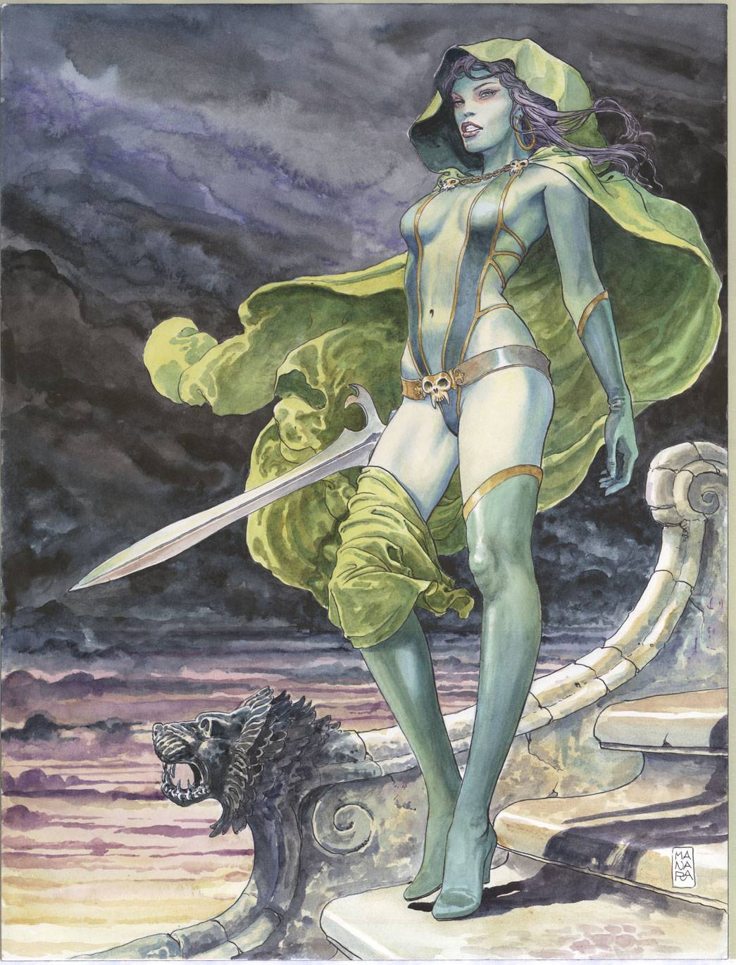 Marvel Guardians of the Galaxy Gamora Milo Manara Poster
