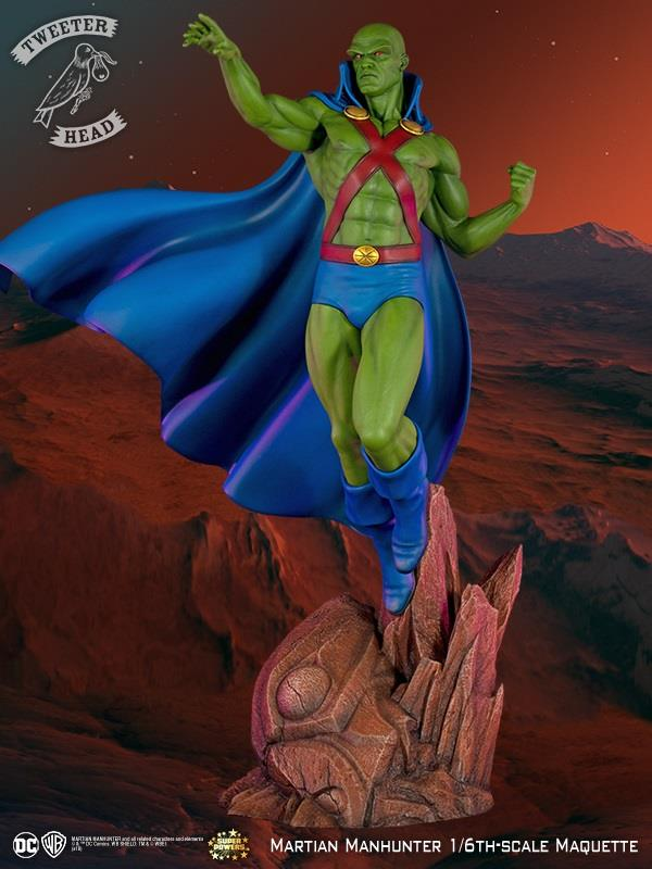 Tweeterhead DC Comics Martian Manhunter Super Powers Maquette