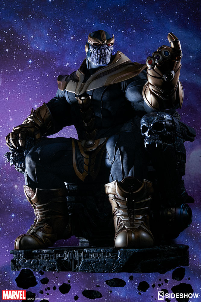 Sideshow Marvel Thanos on Throne Maquette
