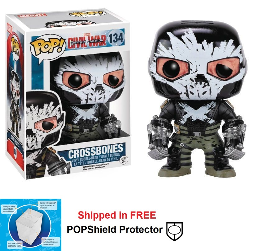 Funko POP Marvel Civil War Crossbones Figure - #134