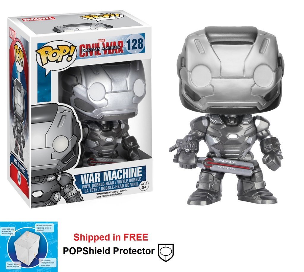 Funko POP Marvel Civil War War Machine Figure - #128