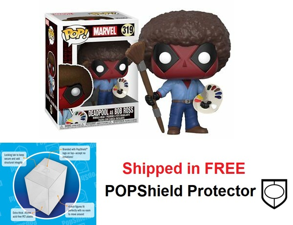 Funko POP Marvel Deadpool Bob Ross - #319