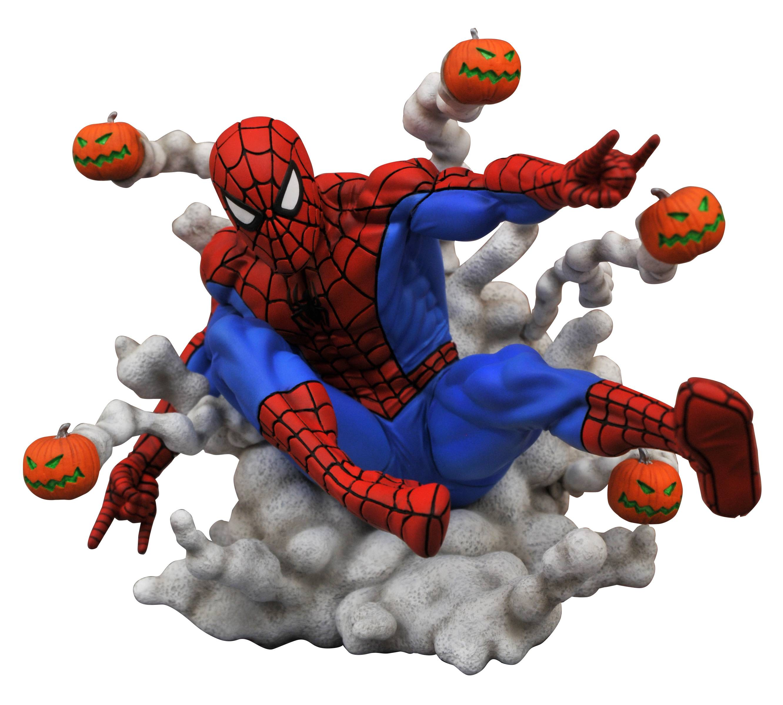 Pre-Order Diamond Marvel Gallery Spider-Man Pumpkin Bomb Statue