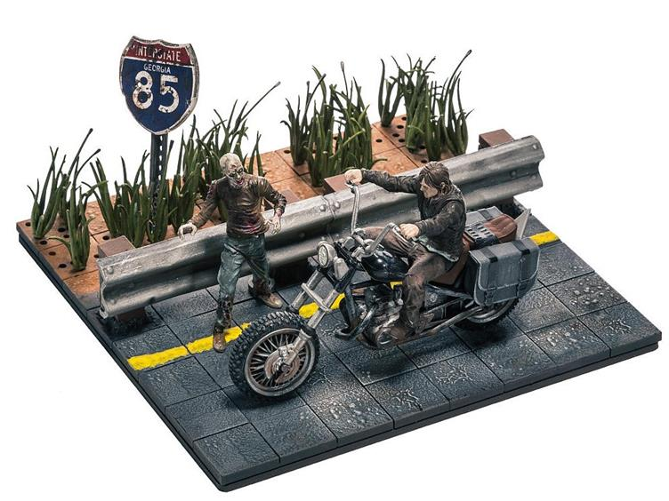 McFarlane Walking Dead Building Set Daryl Dixon with Chopper