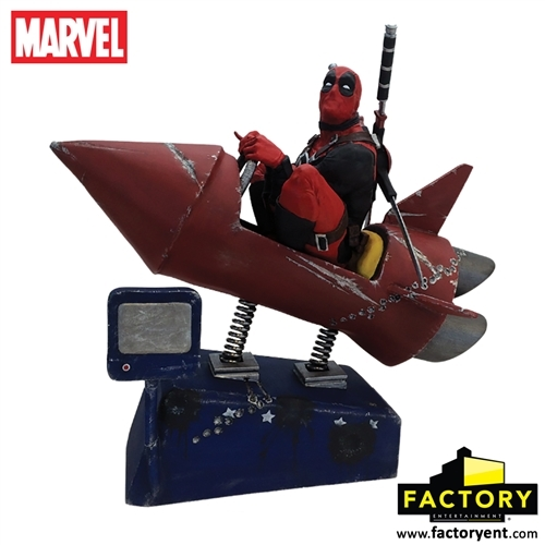 Factory Entertainment Marvel Deadpool Rocket Ride Motion Statue