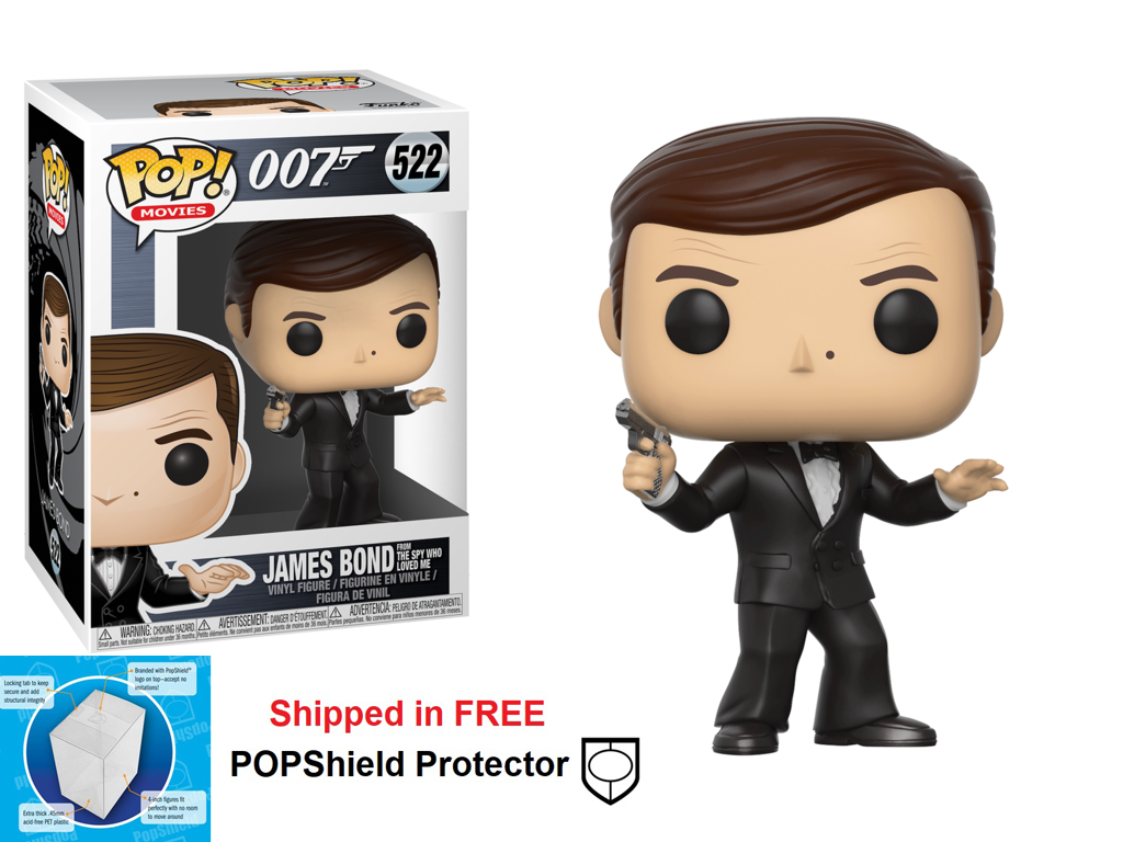 Funko POP Movie 007 James Bond Roger Moore Figure - #522