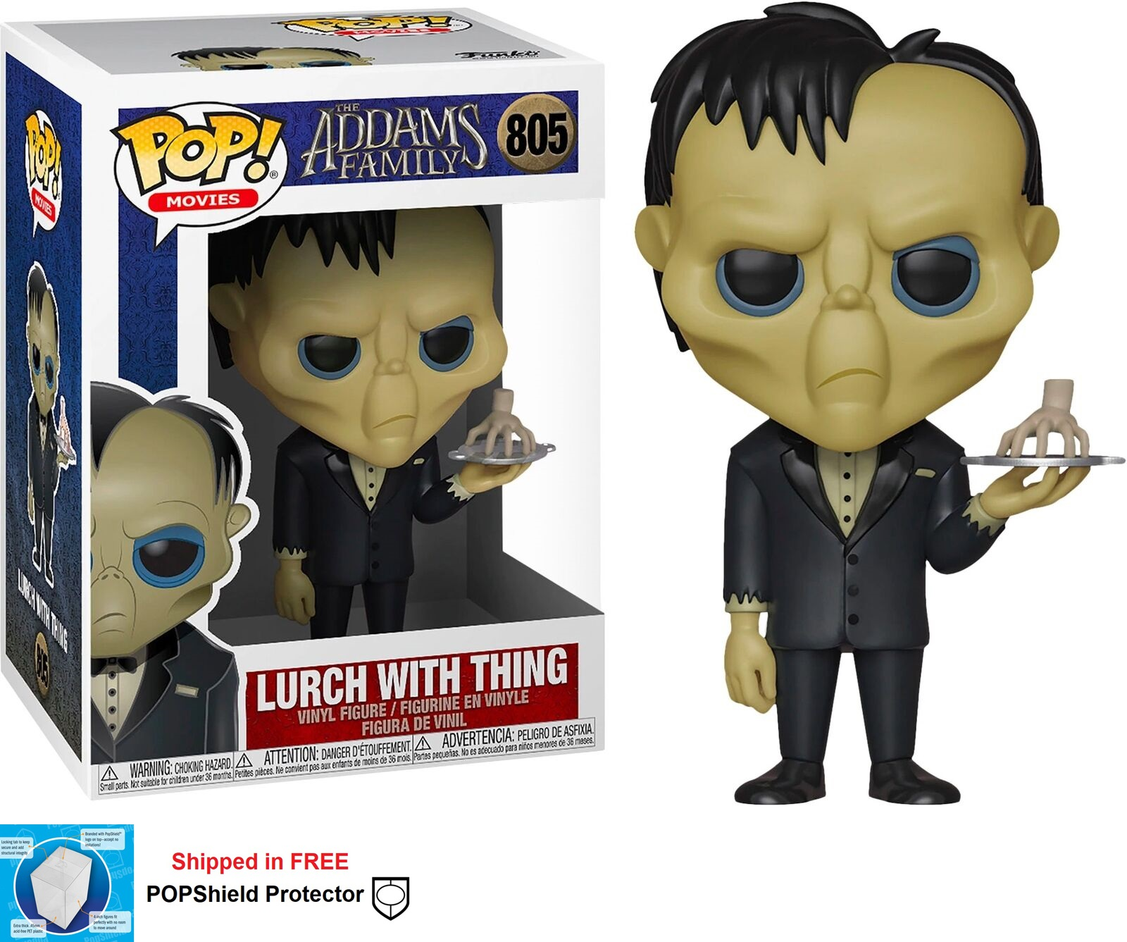 Funko POP Movie Addams Family Lurch with Thing - #805