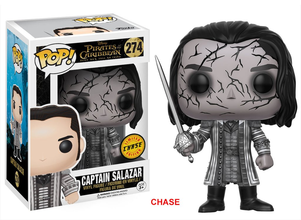 Funko POP Movie Pirates Dead Men Captain Salazar - #274 Chase
