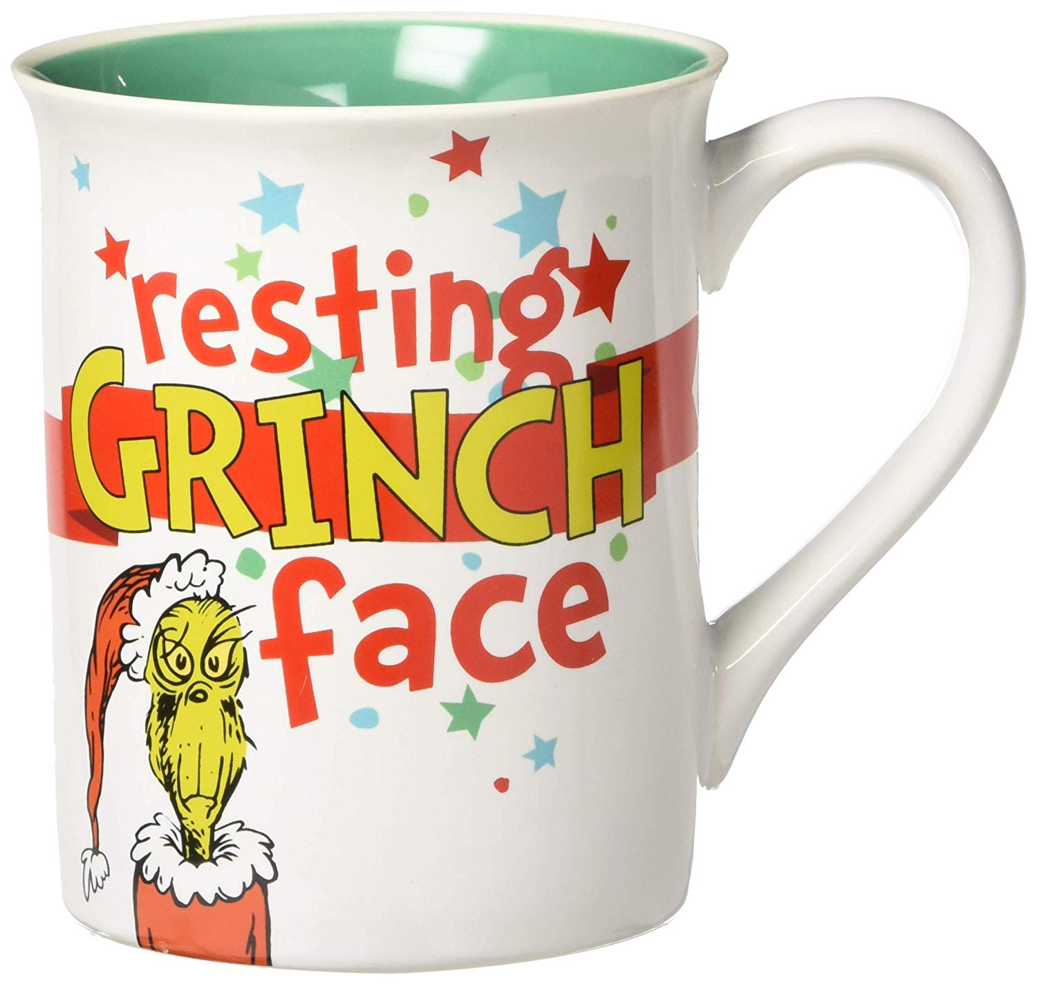 Department 56 Resting Grinch Face Mug