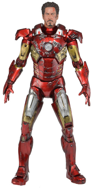 NECA Marvel Avengers Iron Man Battle Damaged 1:4 Scale Figure