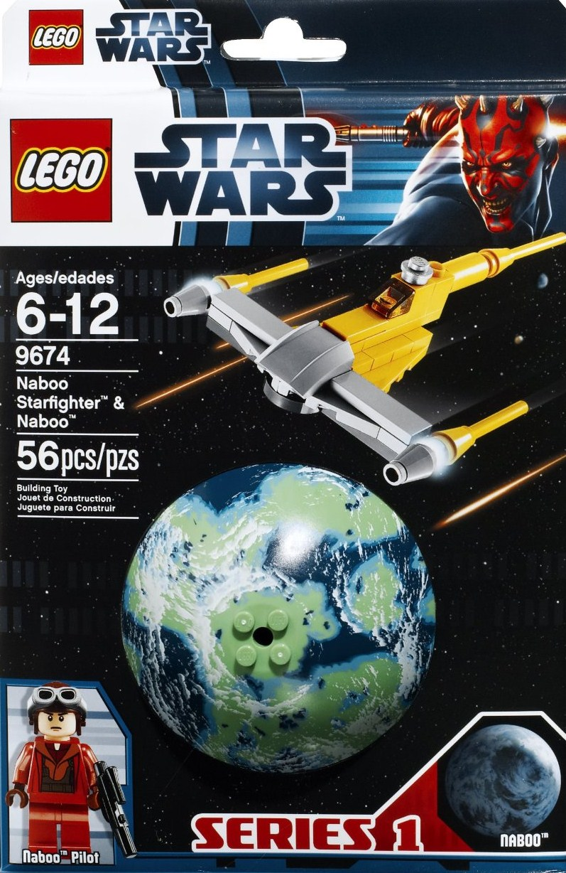 Lego Star Wars Naboo Starfighter & Naboo 9674