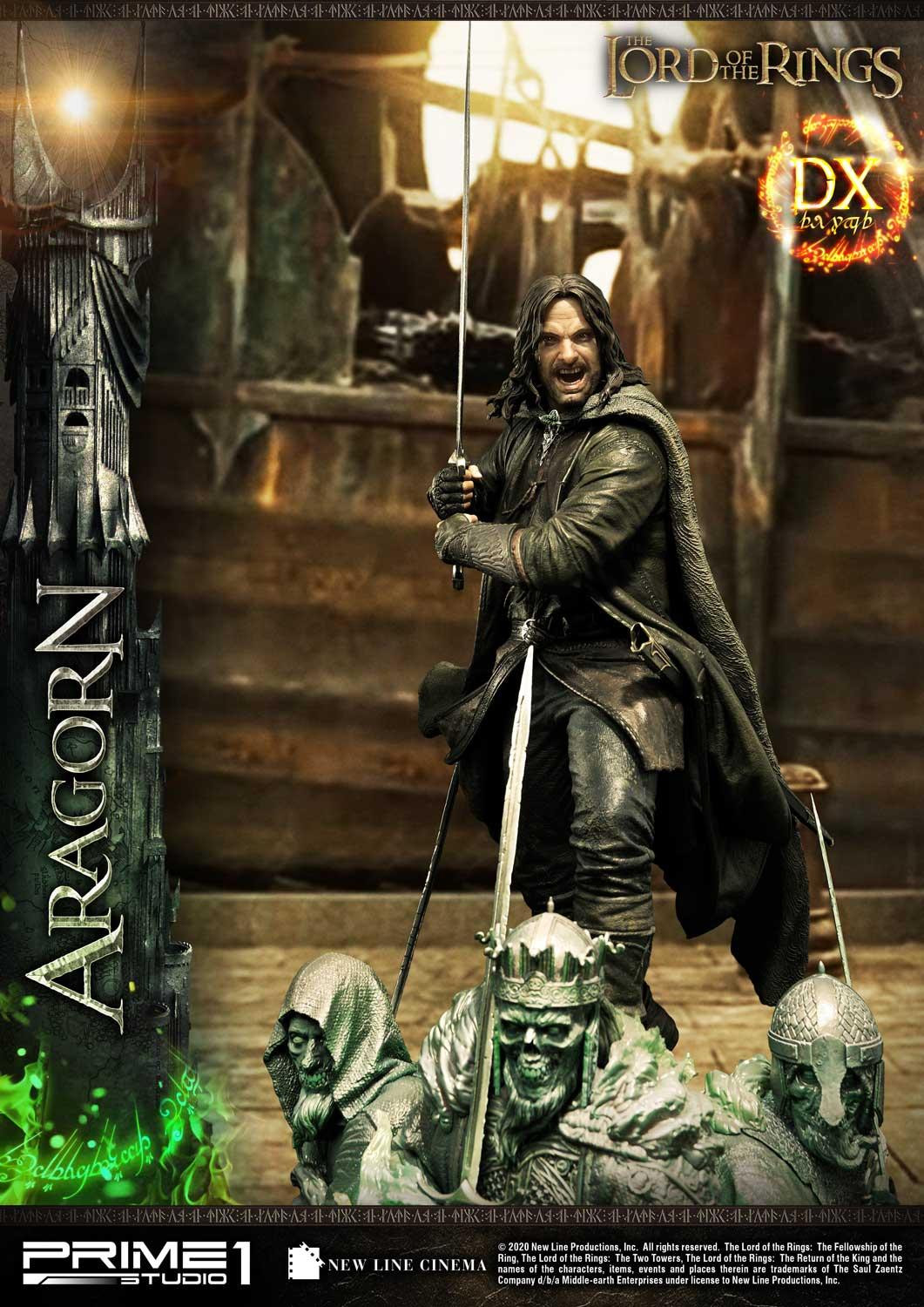 Pre-Order Prime 1 Lord of the Rings Aragorn Deluxe Statue