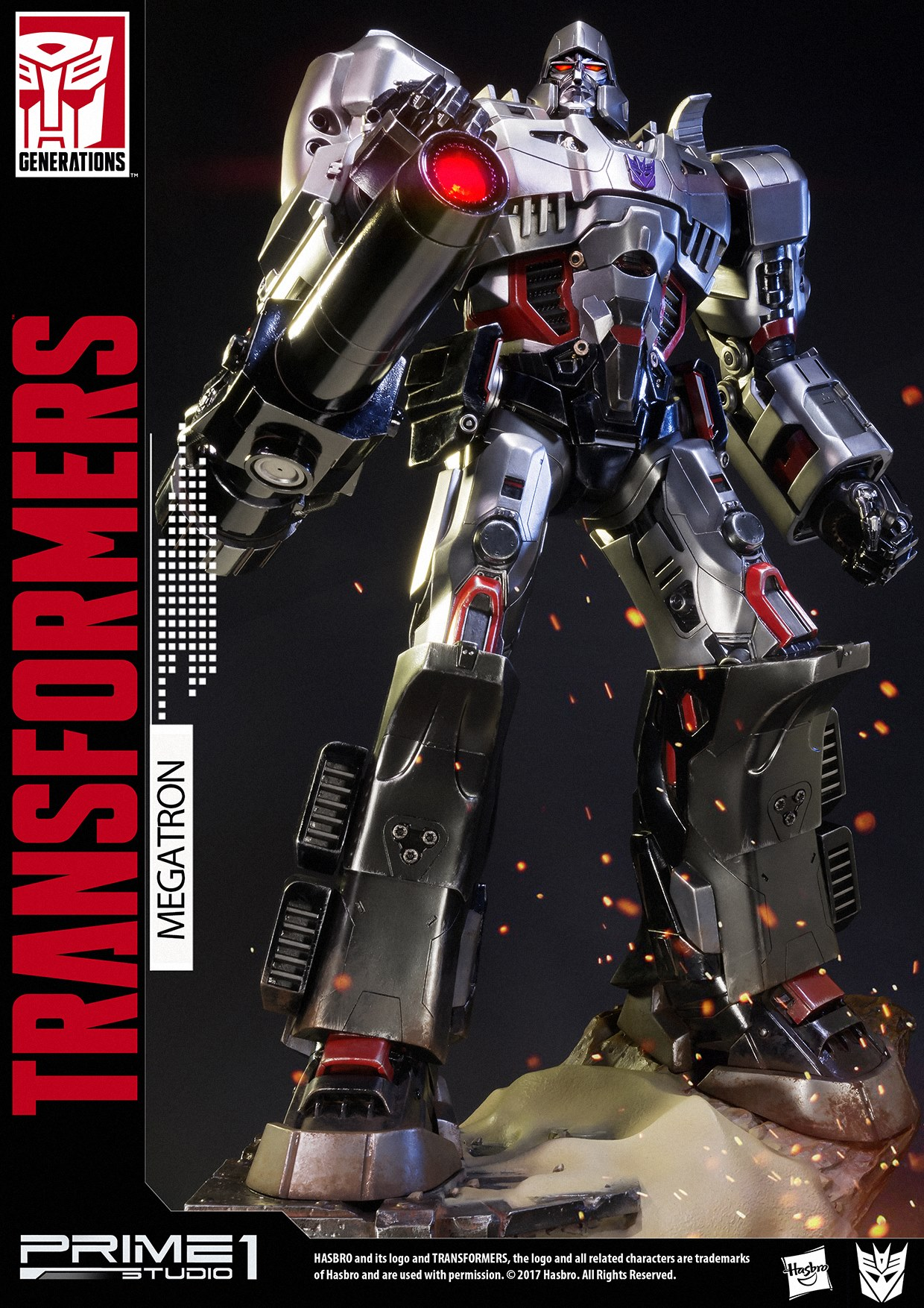 prime 1 transformers megatron generation 1 statue misc comic book