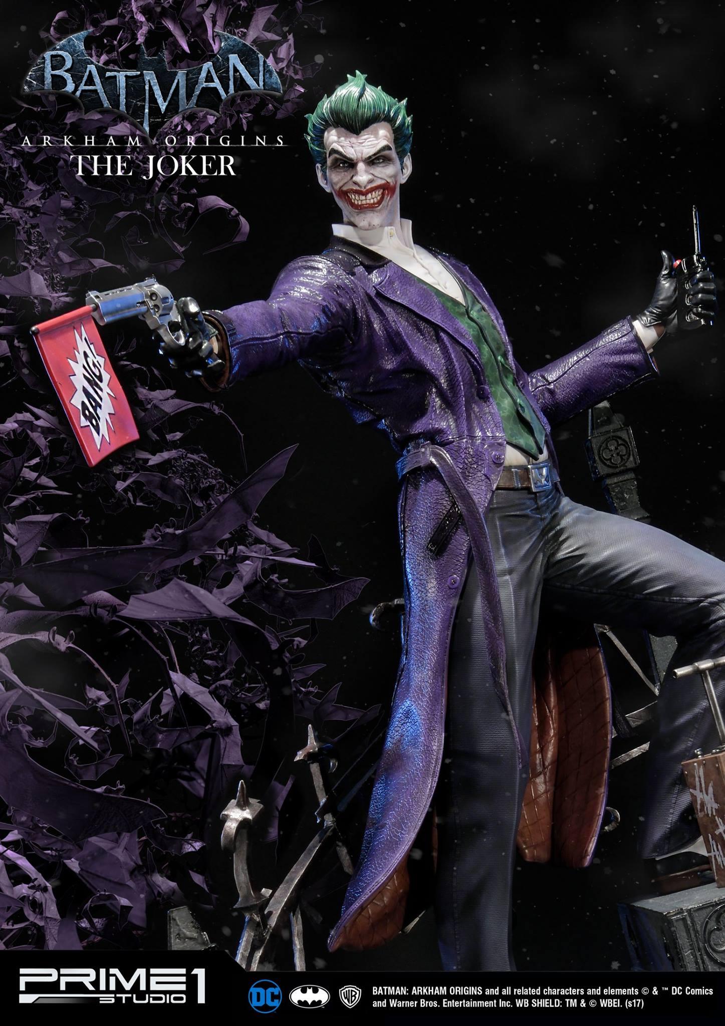 Pre order prime 1 dc comics joker batman arkham origins statue star pre order prime 1 dc comics joker batman arkham origins statue voltagebd Images