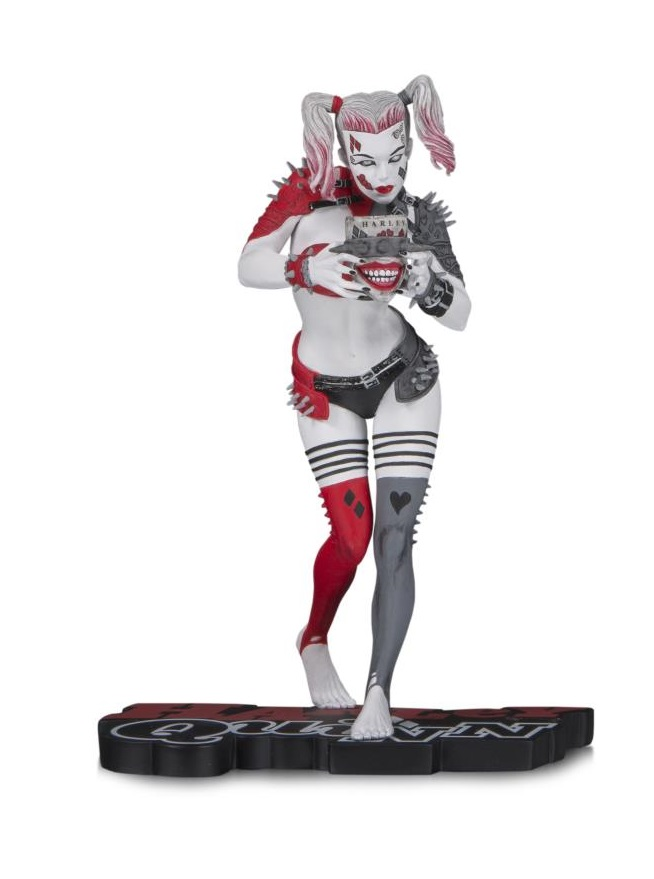 DC Comics Red White Black Harley Quinn Greg Horn Statue