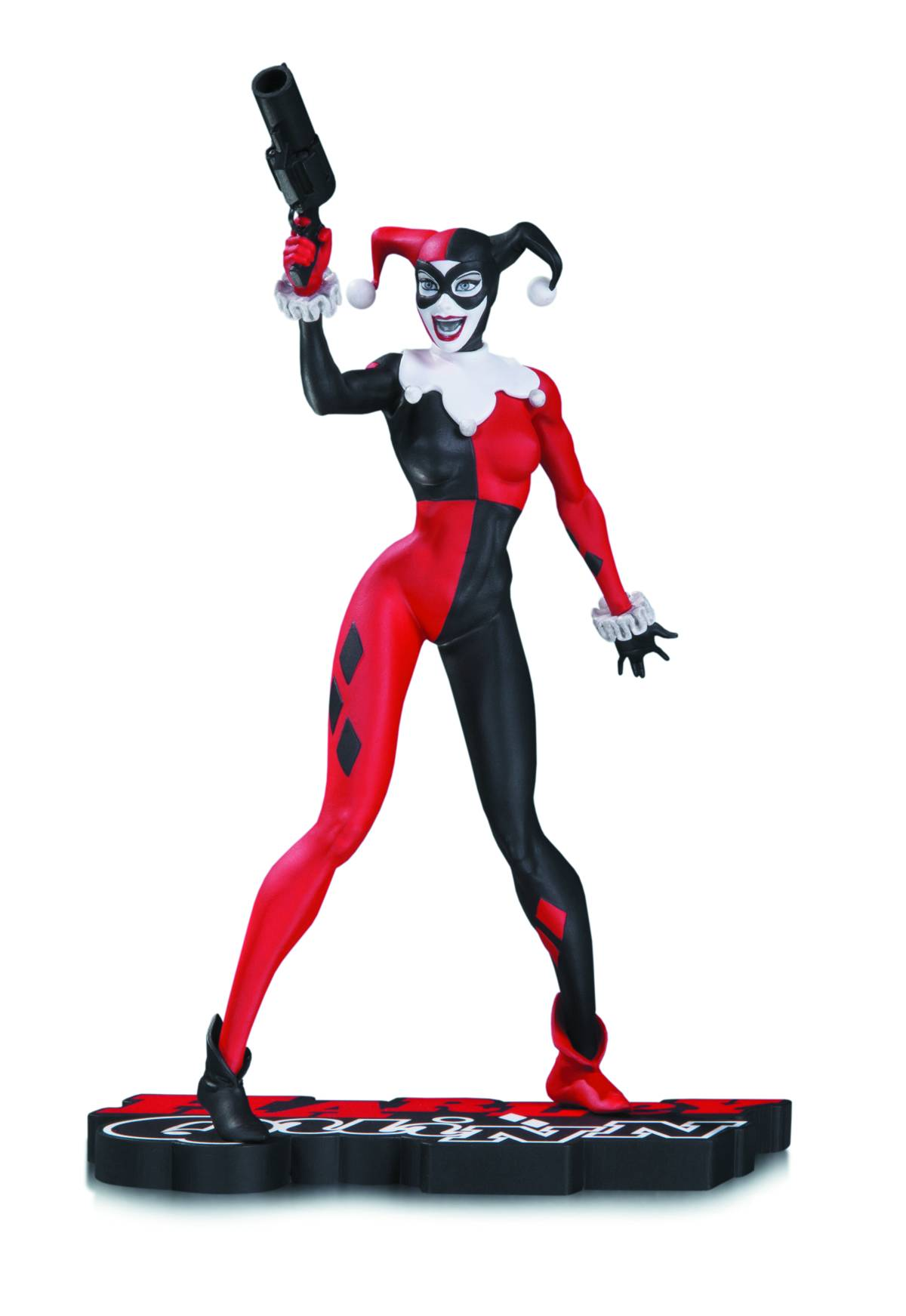 DC Comics Red White Black Harley Quinn Jim Lee Statue