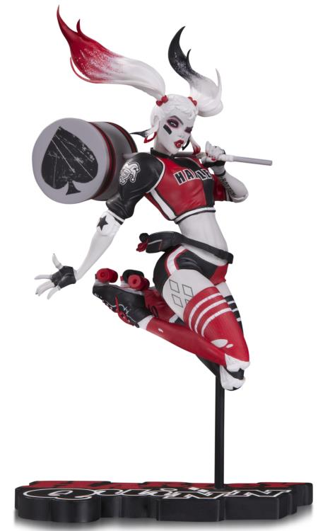 DC Comics Red White Black Harley Quinn Babs Tarr Statue