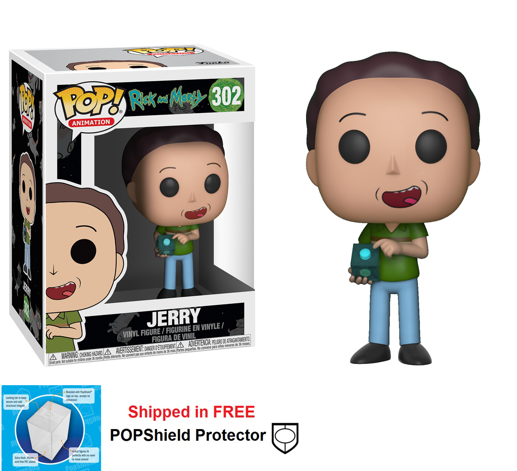 Funko POP Animation Rick and Morty Jerry Figure - #302